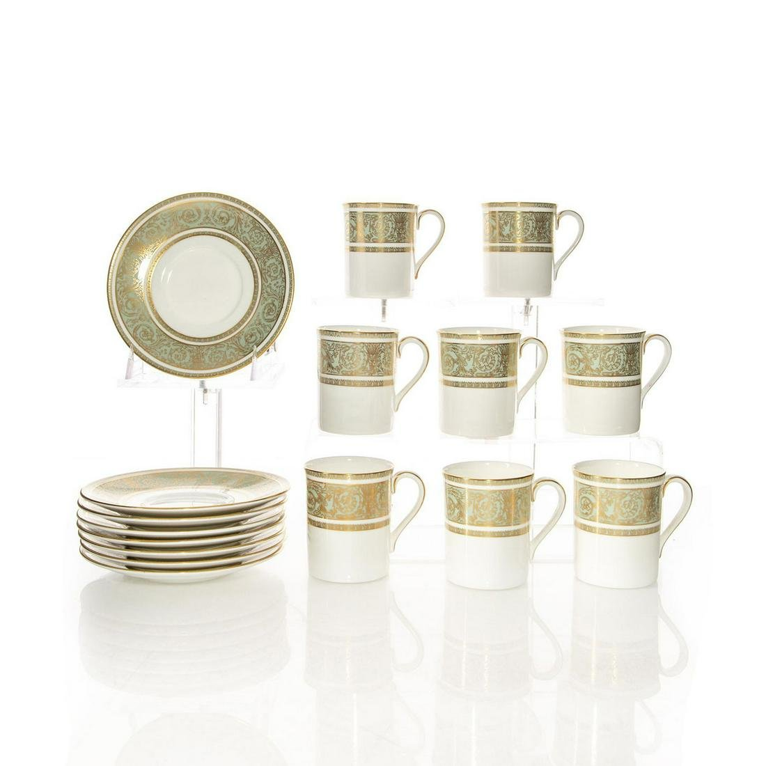 8 ROYAL DOULTON ENGLISH RENAISSANCE COFFEE CUPS,