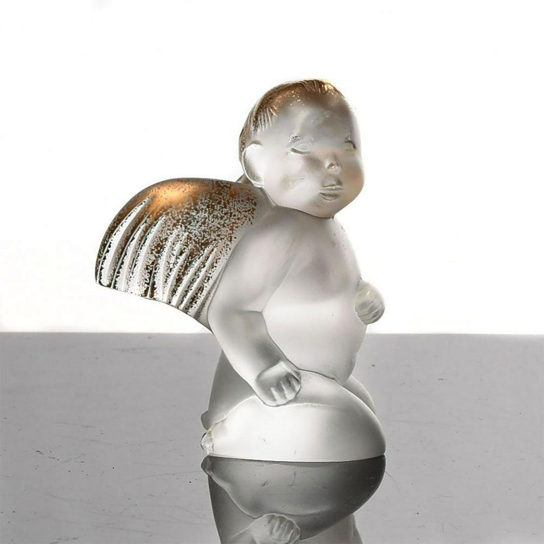 LALIQUE CRYSTAL ELTON'S SINGING ANGEL ORNAMENT