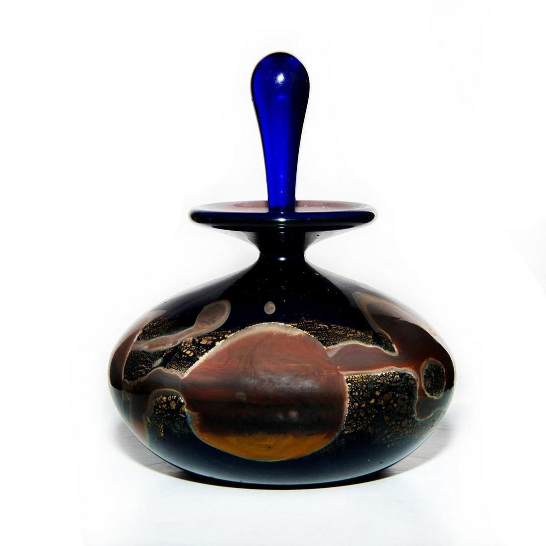 MICHAEL NOUROT ART GLASS PERFUME BOTTLE