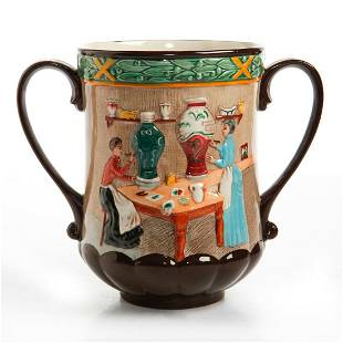 ROYAL DOULTON POTTERY IN THE PAST LOVING CUP JUG D6696