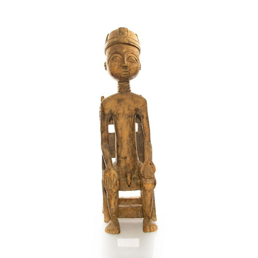 VINTAGE WOODEN PRIMITIVE AFRICAN TRIBAL FOLK ART STATUE
