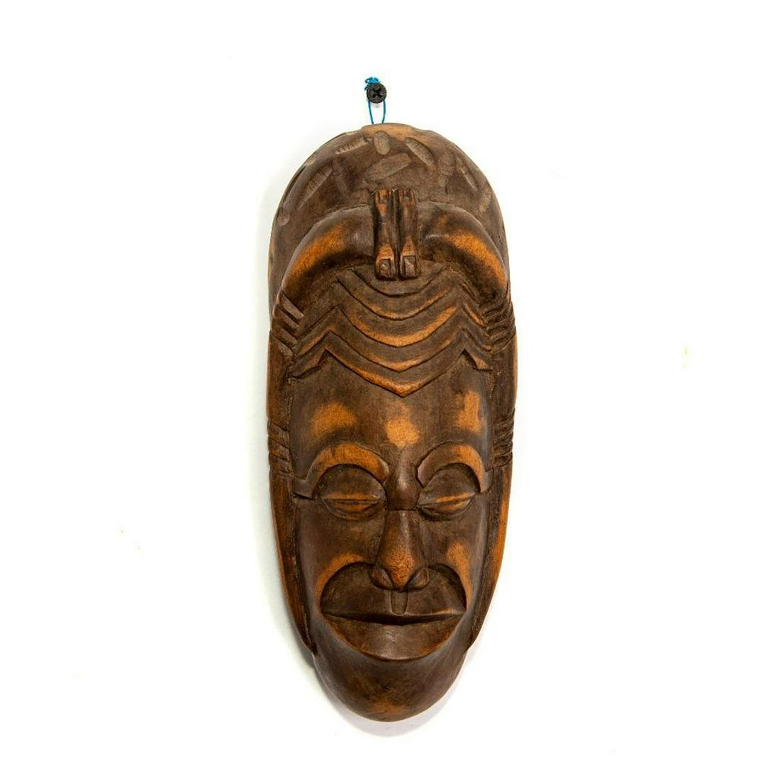 VINTAGE AFRICAN TRIBAL WOODEN WALL MASK