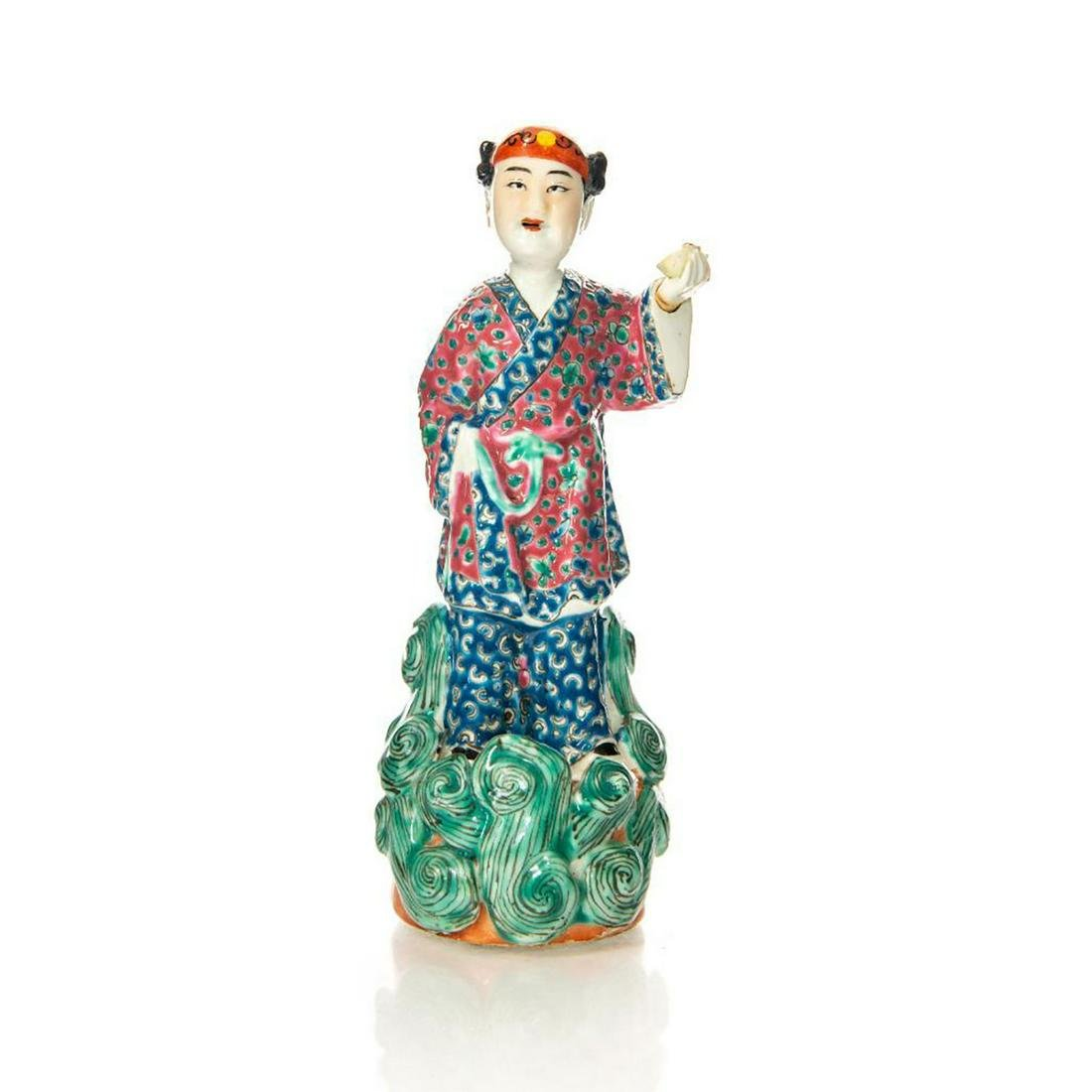 ANTIQUE CHINESE PORCELAIN FIGURINE OF CHILD