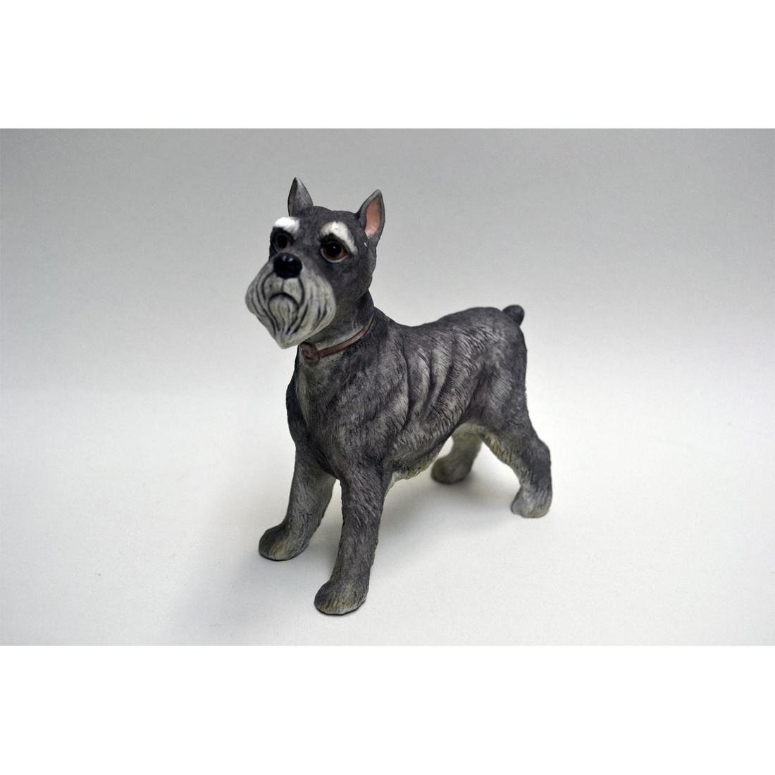 BOEHM PORCELAIN LIMITED EDITION SCHNAUZER DOG FIGURINE