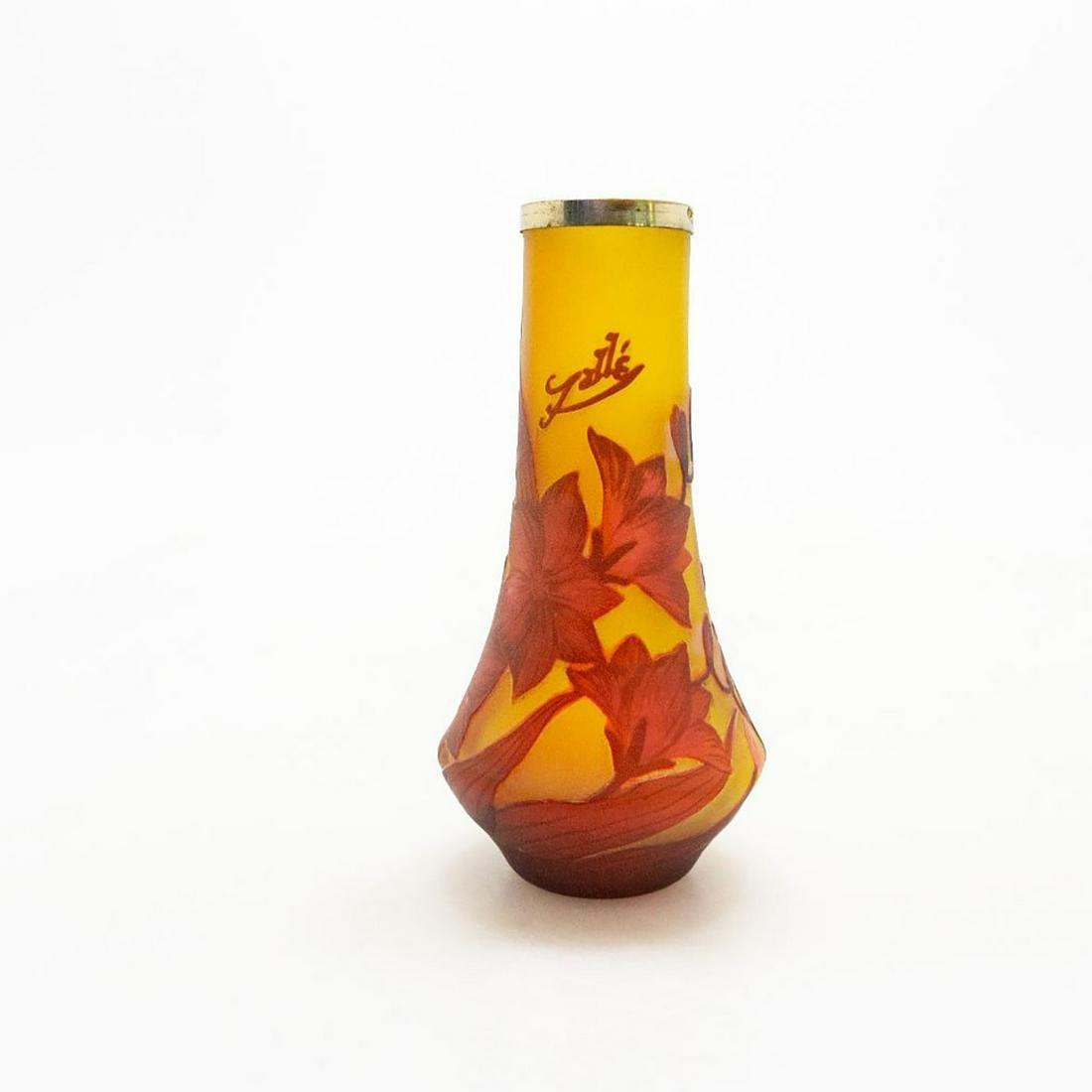 ART NOUVEAU EMILE GALLE ART GLASS CAMEO VASE