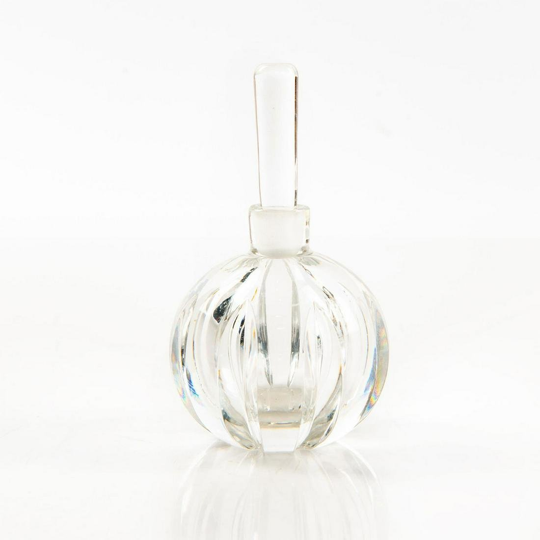 ORREFORS HANDCUT CRYSTAL PERFUME BOTTLE WITH DAUBER