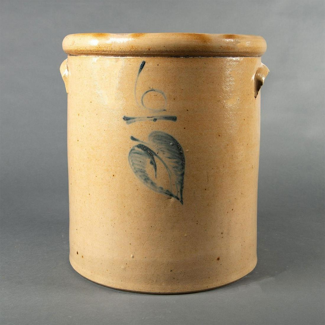 Red Wing Stoneware 6 Gallon Salt Glaze Leaf Crock