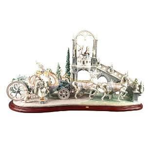 Lladro Lg Figural Group Sculpture, Cinderella'S Arrival