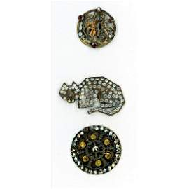 Small Card Of Beautiful Paste Jewel Buttons