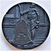 One Of Or The Most Rare Black Glass Picture Button