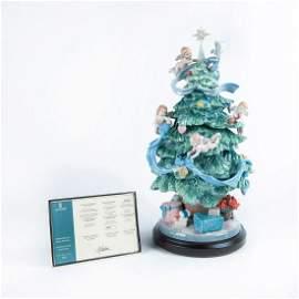 Lladro Porcelain Figurine, Great Christmas Tree