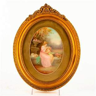 Royal Doulton Leslie Johnson Art Plaque, Mother And