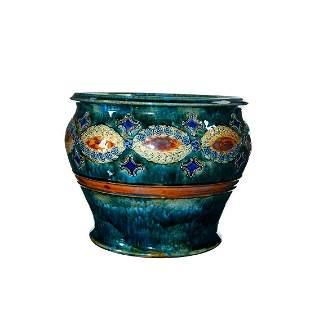 Royal Doulton Art Nouveau Style Stoneware Jardiniere