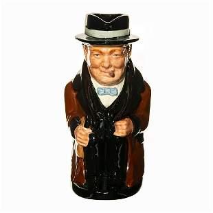 Royal Doulton Winston Churchill Toby Jug - Unique Color