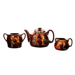 4PC Royal Doulton Kingsware Tea Set