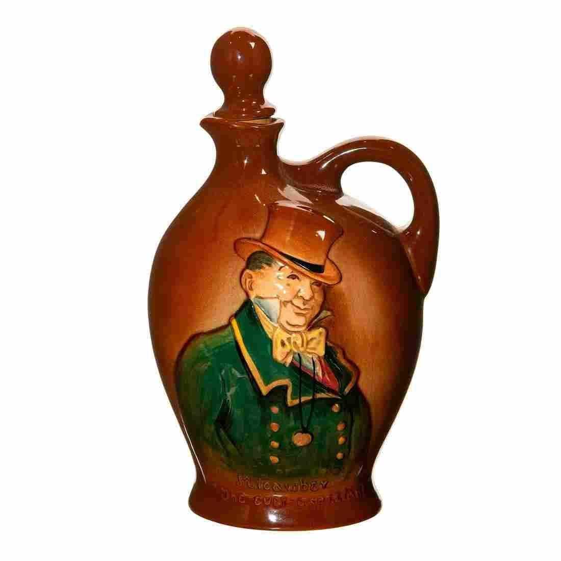 Royal Doulton Kingsware Whisky Flask, Mr Micawber