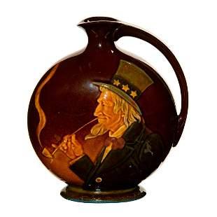 Royal Doulton Kingsware Uncle Sam Whiskey Bottle for