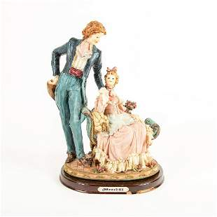 Large Meerchi Figural Group, Victorian Couple
