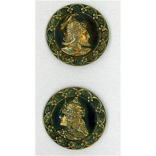 TWO DIVISION ONE BRASS HEAD BUTTONS