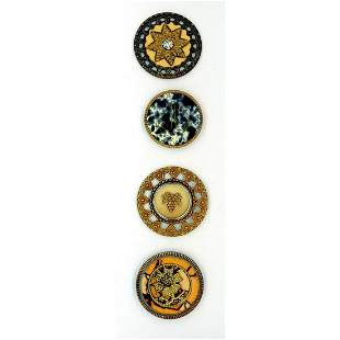 A SMALL CARD OF DIVISION ONE CELLULOID BUTTONS