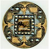 A RARE AND DESIREABLE LATE 19TH CENTURY GAY 90 BUTTON