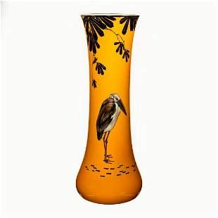 Large Royal Doulton Ceramic Vase, Storks