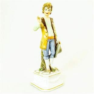 Vintage Italian Porcelain Boy Figurine