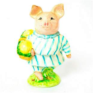 Little Pig Robinson (Striped Pajamas) - Gold Oval -
