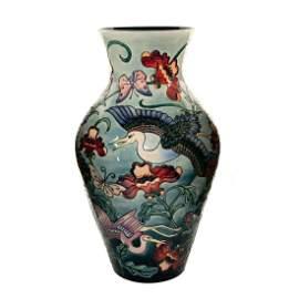 "Impressive Moorcroft Pottery Rachel Bishop 24"" Vase,"