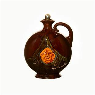 Royal Doulton Dewar's Jovial Monk Whisky Flask