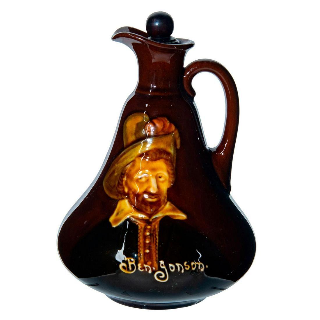 Royal Doulton Kingsware Dewars Whisky Jug, Ben Jonson
