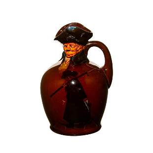 Royal Doulton Night Watchman whiskey flask with modeled