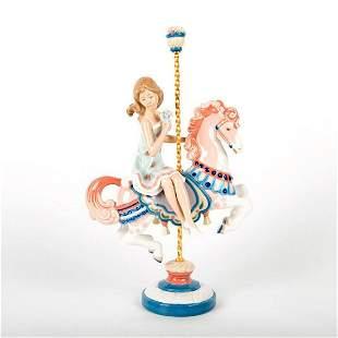 Girl On Carousel Horse 1001469 - Lladro Porcelain