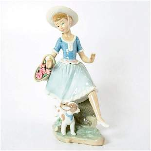 Country Lass with Dog 1004920 - Lladro Porcelain