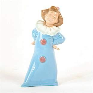 Clown Girl Blue Dress - Nao Porcelain Figure by Lladro