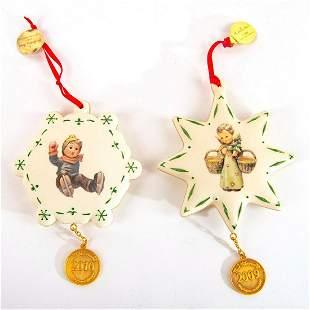 Goebel Hummel, Set of 2 Christmas Ornaments