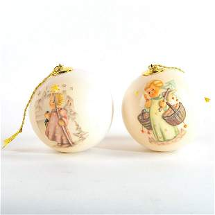 Goebel Hummel, Set of 2 Christmas Balls