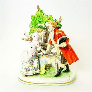 Vintage German Porcelain Figurine Grouping, Courting