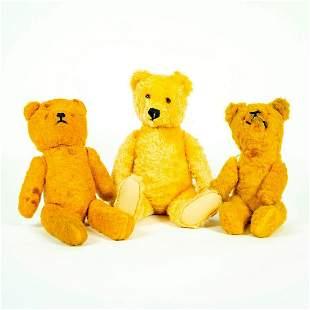 Group Of 3 Vintage Stuffed Teddy Bears