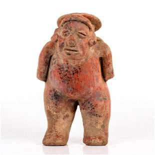 Pre Columbian Style, Terra Cotta Figurine Jug