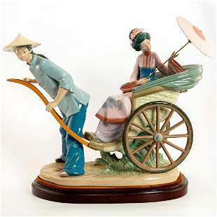 A Rickshaw Ride 1001383 - Lladro Porcelain Figure