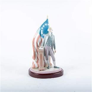 George Washington 01007575 - Lladro Porcelain Figure