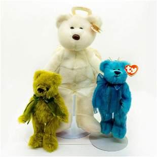 3pc Beanie Babies, Angle Bear and Colorful Teddy Bears