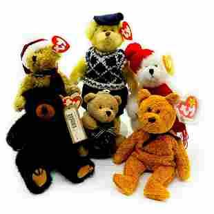 pc Beanie Babies, Classic and Winter Teddy Bears