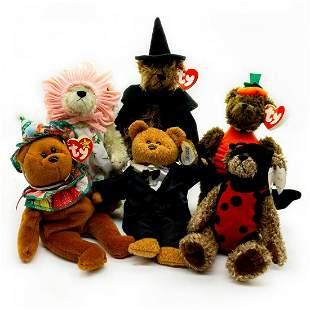 6pc Beanie Babies, Halloween Costume Teddy Bears