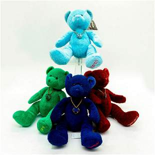 4 pc Bears of the Month, Jan, March, May, Sep Teddy