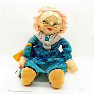 Artesania Amor Handcrafted Vintage Rag Doll, Abuela
