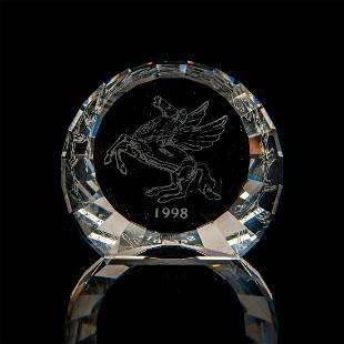 Swarovski Crystal, 1998 Pegasus Plaque