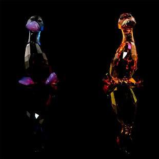 Pair of Swarovski Figurines, Lily And Luke 1039868