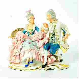Sandizell Dresden Figurine Group, Courting Couple